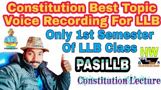 #PASILLB #Constitutionllb Most Important Constitution LLB 1st Sem Explained, With 10 Leading Cases