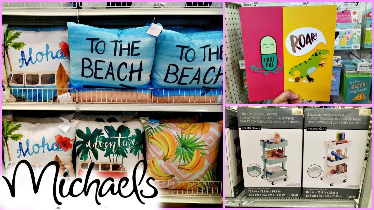 daaa7042cbebbf SHOP WITH ME NEW AT MICHAELS SUMMER SPRING WALK THROUGH 2018 - YouTube