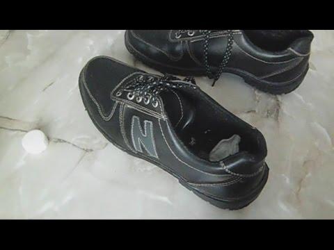 убрать запах пота из обуви