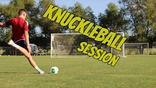 Knuckleball Free Kick Session | Shoot And Thrill