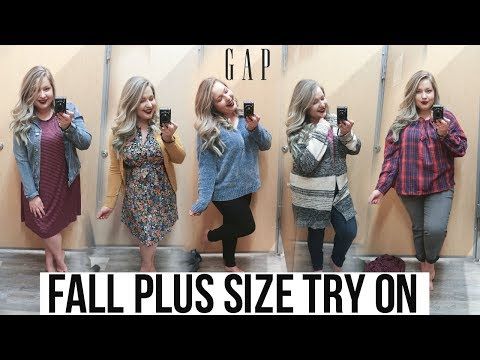INSIDE GAP OUTLET'S DRESSING ROOM | Plus Size FALL 2018 Try On