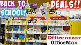 BACK TO SCHOOL SHOPPING 85 CENT DEALS! * OFFICE DEPOT / OFFICEMAX * SHOP WITH ME 2019