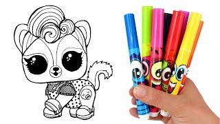 How to Draw LOL Pet Grunge Skunk | LOL Surprise Pets Series 4 Opening Drawing and Coloring for Kids