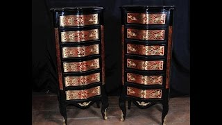 Boulle Inlay Chest Drawers Tall Boy