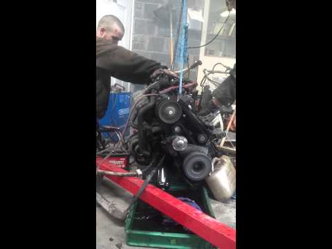 Volvo D24TIC start, after bolting a few VW LT parts to it