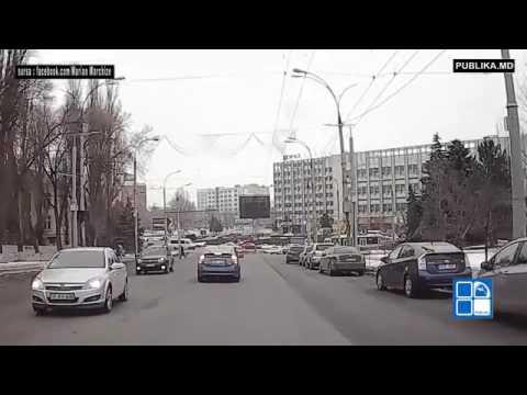 В центре Кишинева сняли на видео странное ДТП