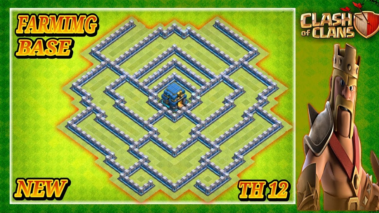 NEW BEST! Farming Base Town Hall 12 (TH12) 2019 - Hybrid Farming Base Clash  Of Clans