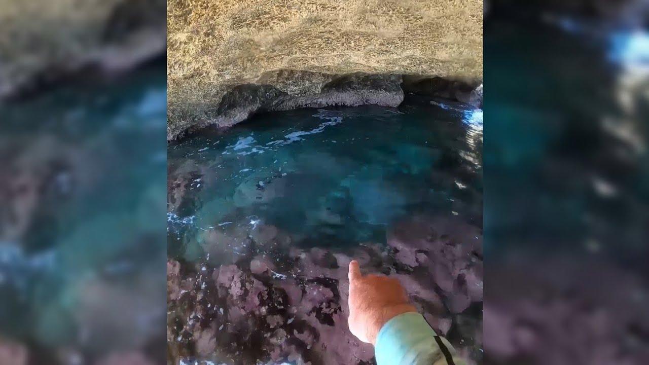 Mega Jacuzzi Azul Turquesa 💙 en Cueva Gigante en la Playa 🌴 un Paraíso Fuera de Este Mundo 🇵🇷
