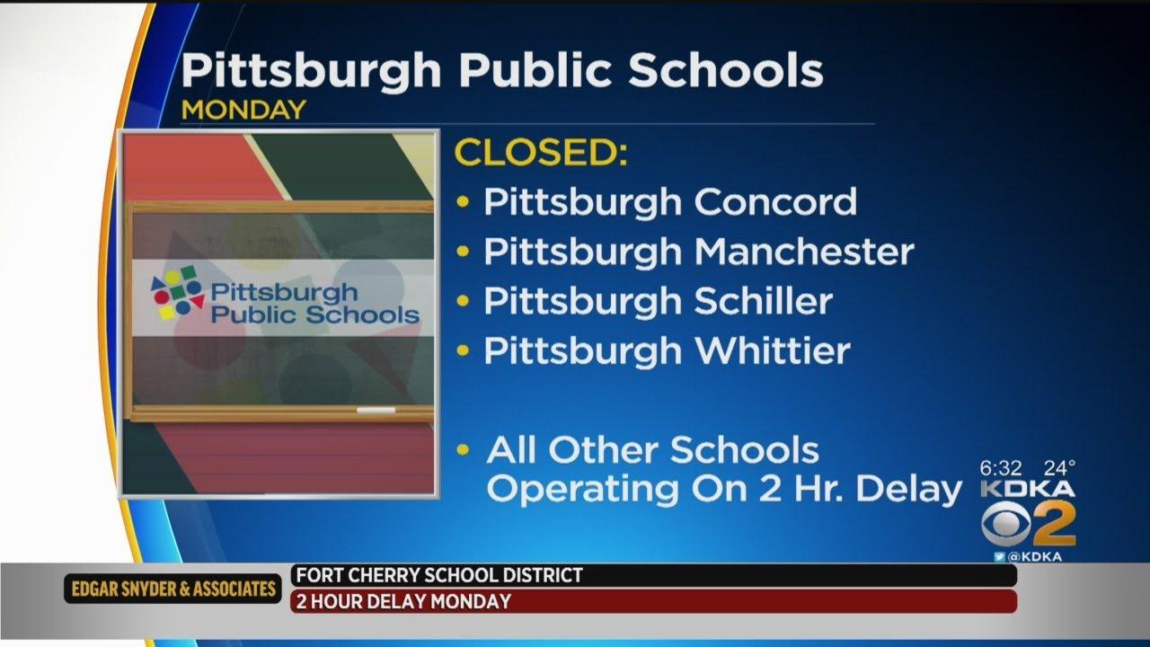 Pittsburgh Public Schools Call 2-Hour Delay, 4 Schools Closed