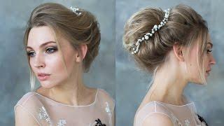 видео Как делать свадебные прически на каре