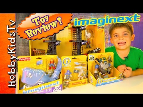 Imaginext Pirate Ship Whale Dive Armor Skeletons Box Opening Review by HobbyKidsTV