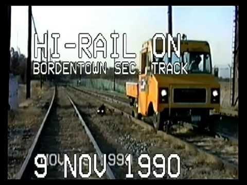 Video 170,  Disc 29b, Conrail Bordentown Sec  Track, 9 Nov 1990