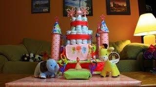 Princess Castle Diaper Cake (How To Make)