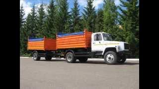Автопоезд ГАЗ-САЗ-25064 и САЗ-83173 начало. 2011 год