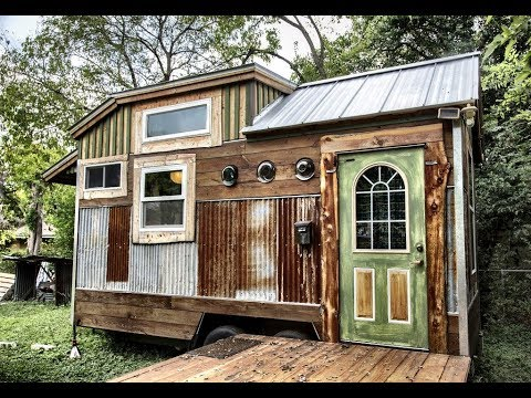 whimsical tiny house built with used materials youtube. Black Bedroom Furniture Sets. Home Design Ideas