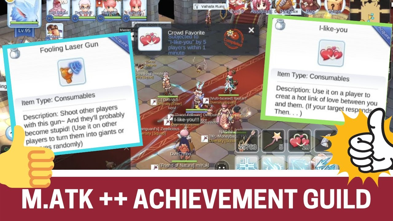 HOW TO GET M ATK + TITLE FROM GUILD! ENCHANTING & GIANT TOWER TITLE  RAGNAROK MOBILE ETERNAL LOVE