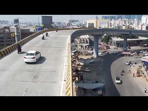 Hyderabad Gachibowli Biodiversity flyover car accident CCTV footage 23/11/19