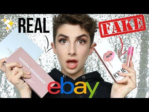Testing Real Makeup vs. eBay Fakes (All Under £7!) | Kylie, Anastasia etc