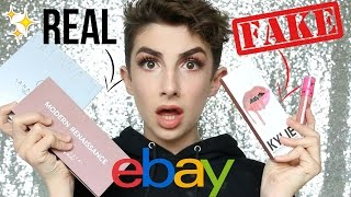 Testing Real Makeup vs. eBay Fakes (All Under £7!) | Kylie, Anastasia etc