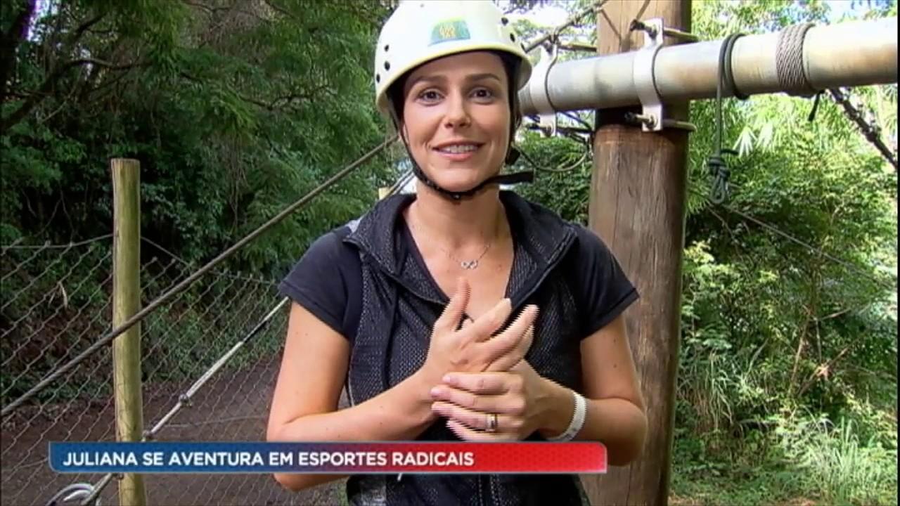 Juliana Rios enfrentou os esportes radicais de Brotas (SP)