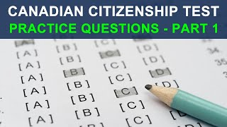 CANADIAN CITIZENSHIP TEST 2018 - PRACTICE QUESTIONS - PART 1