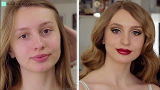 Смелый макияж на выпускной: стрелки и глиттеры. Пошаговый урок по макияжу