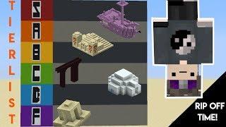 Minecraft Generated Structure Tier List