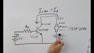 BJT as Switch Circuit Walk Through