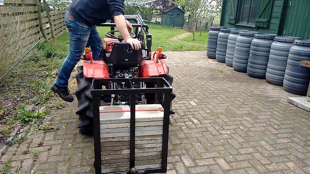 Kubota Tractor Weights : Weight box or counterweight for kubota b youtube