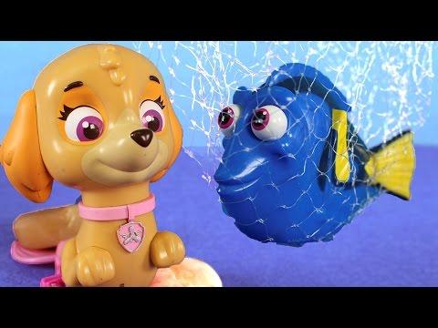 PAW PATROL Toys Episodes ❤️ Skye, Rocky and Zuma rescue Dory