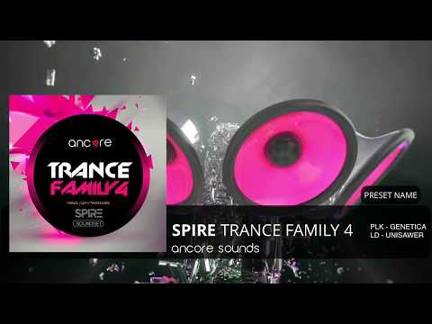 """""""SPIRE TRANCE FAMILY 4"""" Spire Presets, Bank 