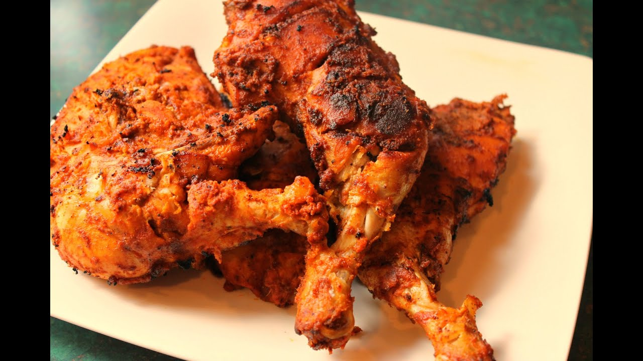 Tandoori Chicken -Chicken Grilled On Gas Stove - YouTube