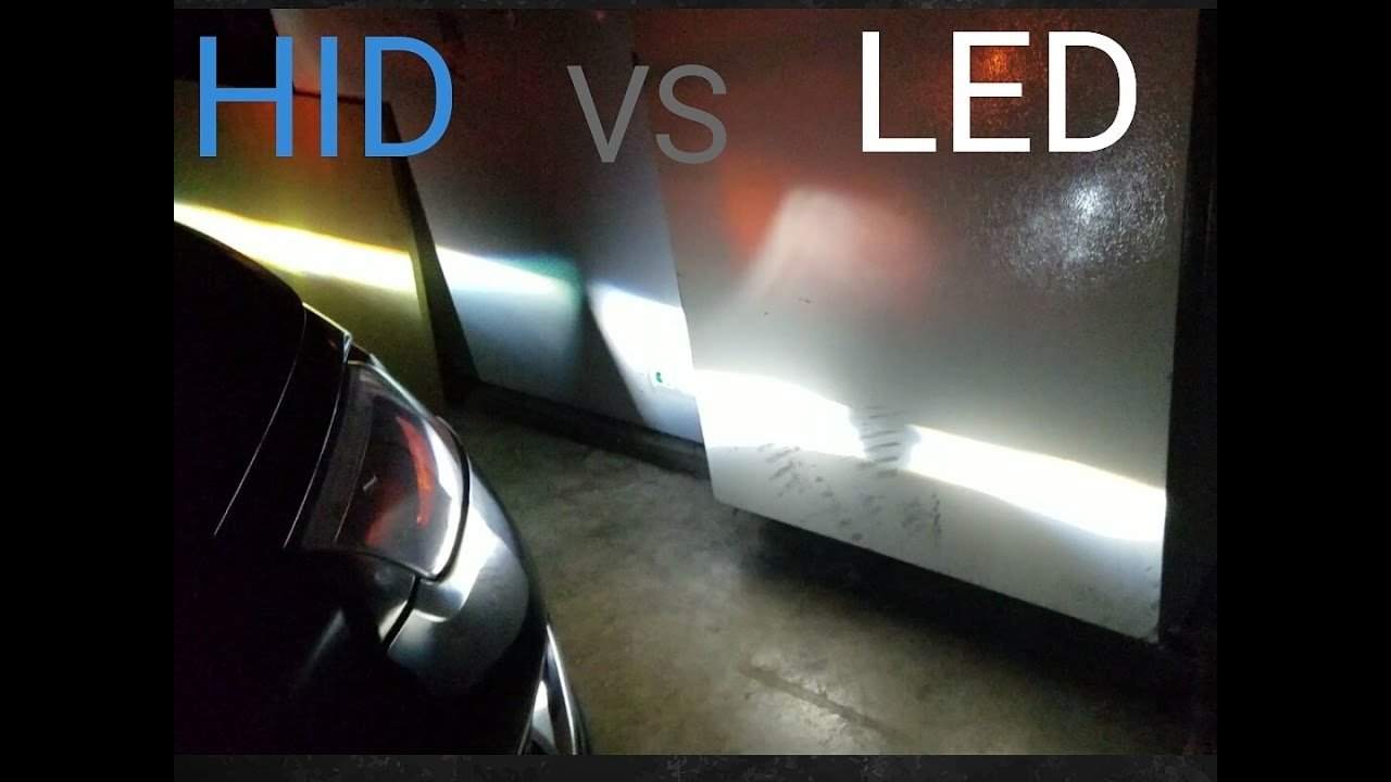 HID vs LED light bulb - YouTube