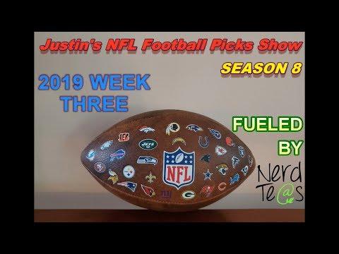 Week 3 | Justin's 2019/2020 NFL Football Picks Show