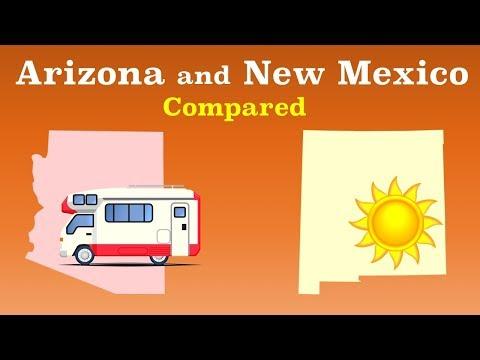 Arizona And New Mexico Compared