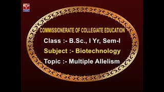 CCE || Biotechnology - Multiple Allelism || LIVE With S. Priyanka