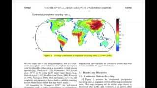 PaperClip1: Origin and fate of atmospheric moisture over continents