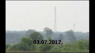 Дымовая зановеса над Пихтовкой июль 2012 НСО