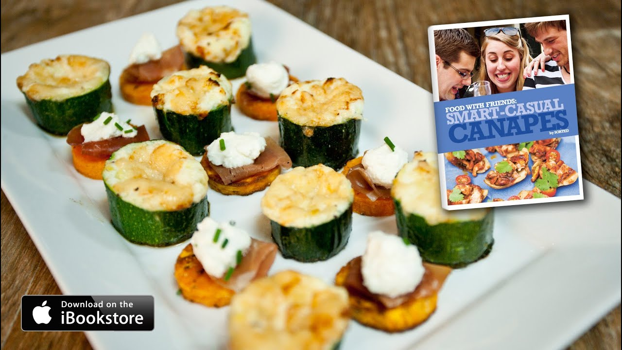 Smart casual canap s recipe youtube for How to make a canape