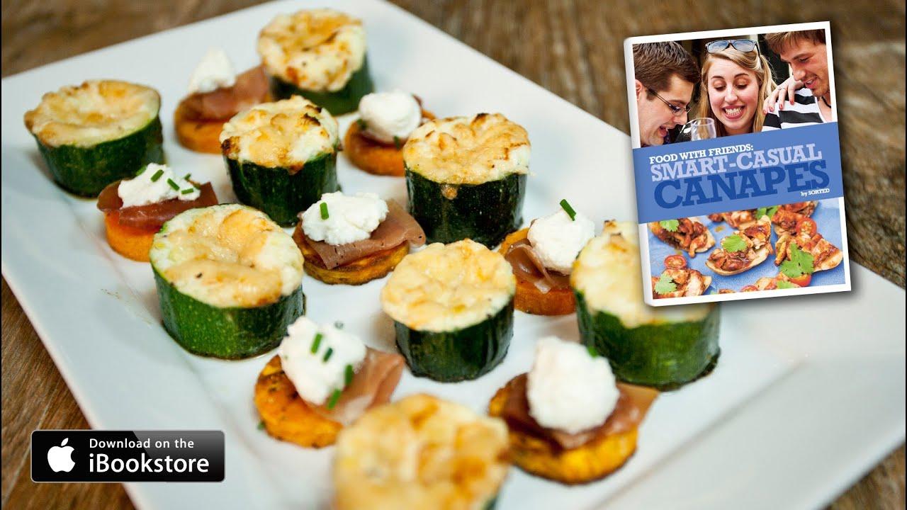 Smart casual canap s recipe youtube for Canape de pate con cebolla caramelizada