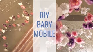 DIY NURSERY DECOR | Diamond & Floral Baby Mobile