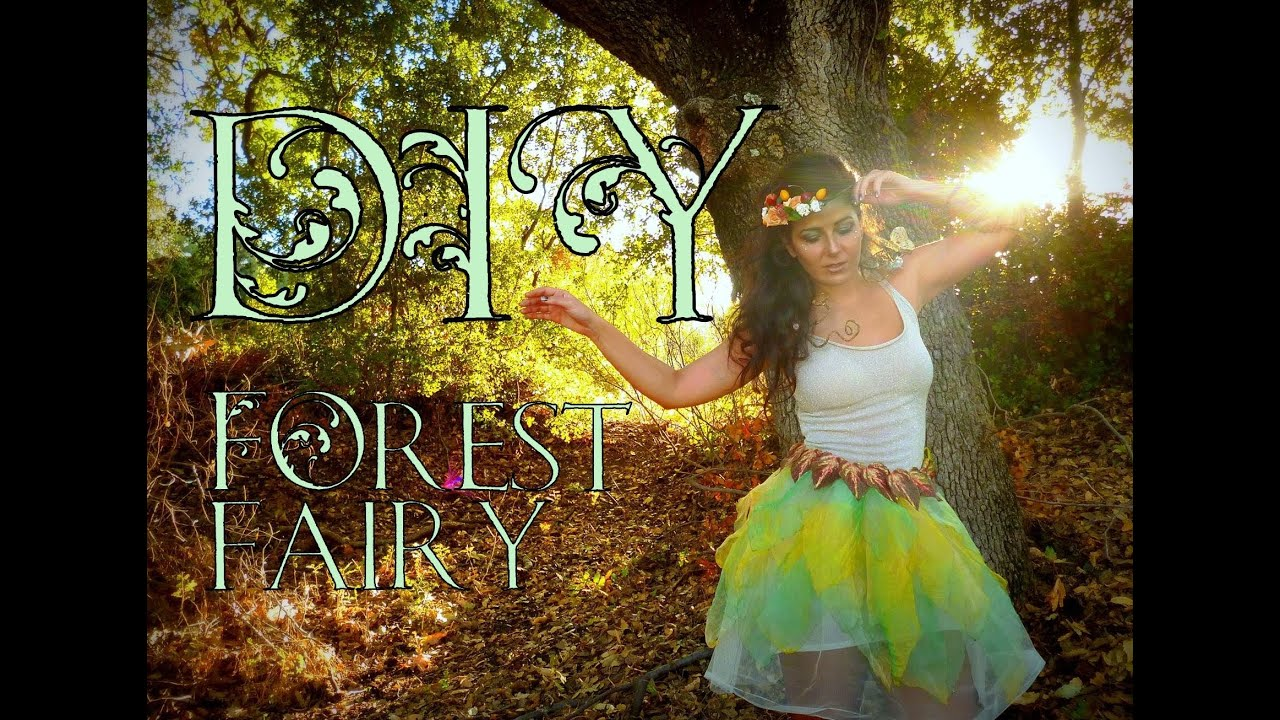 Diy how to make earth nymph pixie fairy halloween costume youtube solutioingenieria Image collections