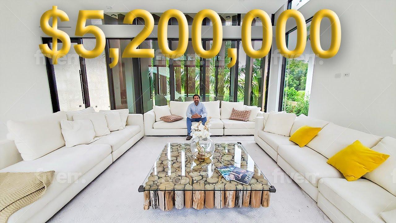 TOUR A PROPIEDAD DE LUJO DE $5,200,000 DE DOLARES EN MIAMI BEACH RECIEN CONSTRUIDA