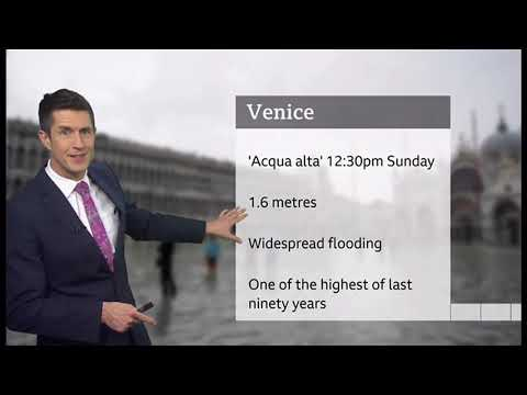 Weather Events 2019 – Venice expected to flood for third time (Italy) – BBC – 17th November 2019