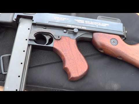 Auto Ordnance Thompson 1927A1 semi auto carbine - YouTube
