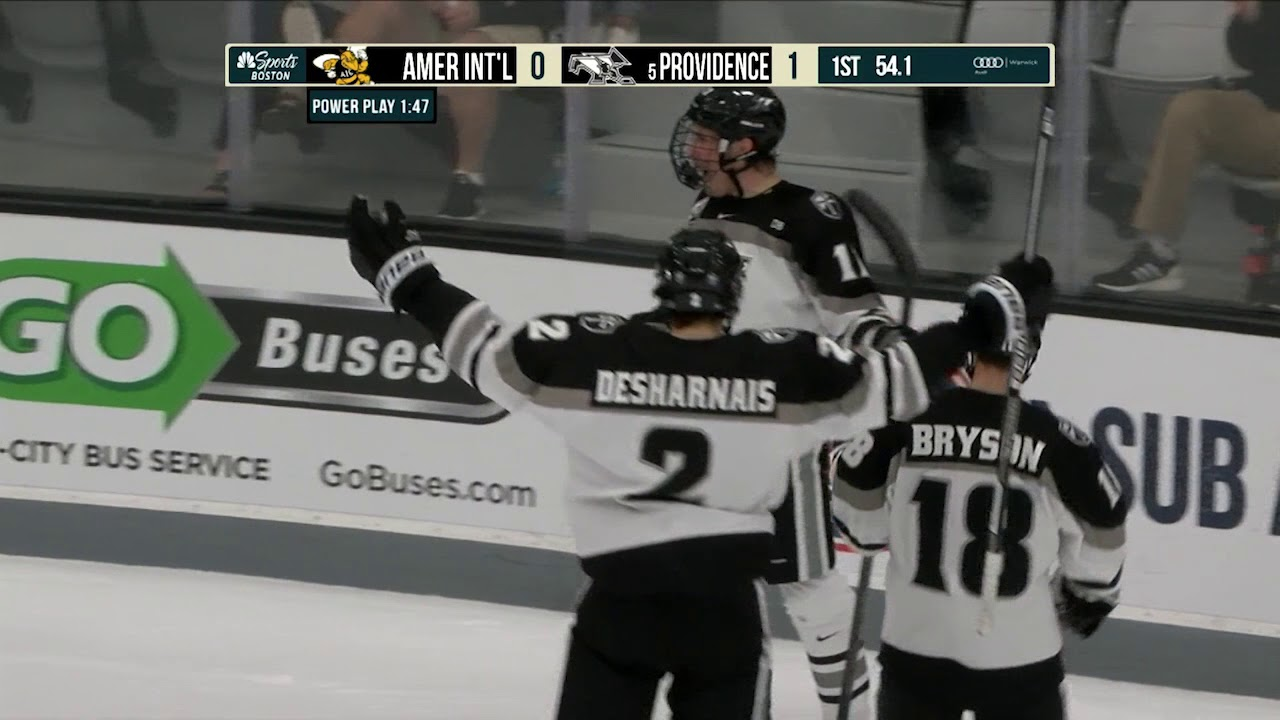 designer fashion 8dfb4 cc541 Providence College Men's Ice Hockey vs. AIC Highlights - 10/6/18