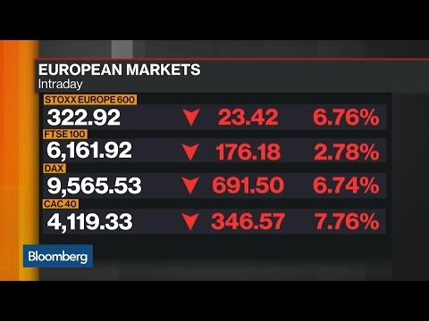 Brexit Pushes Stoxx 600 to Largest Decline Since 2008