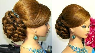 Прическа для длинных волос. Вечерняя, свадебная