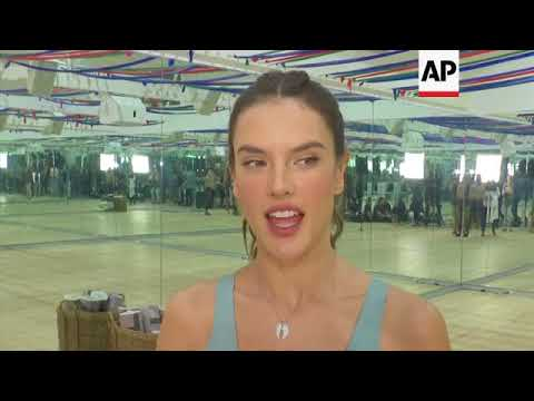Alessandra Ambrosio trains with Tracy Anderson for the upcoming Victoria's Secret Fashion Show; talk