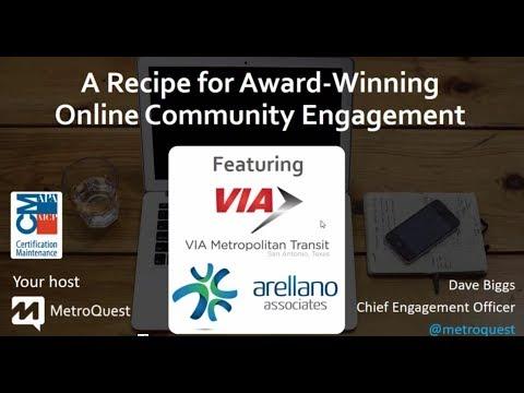 VIA Metropolitan Transit - A Recipe for Award-Winning Online Community Engagement